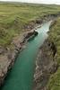 Down the glacial water along the Jökulsá Brú (river) - flowing between the Jökulsárshlíd and Hróarstunga headlands - Eastern region of Iceland.