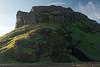 Hjörleifshöfði (Hjörleifur´s Headland) - with the early morning sunlight and shadows along its northern slope and ridge top.