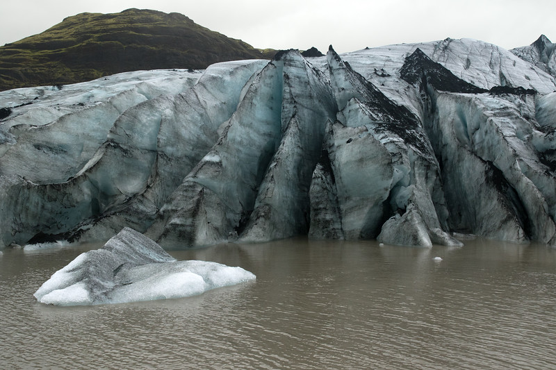During the last Ice Age, which peaked around the beginning of Holocene Epoch (which began around 11,500 years ago), Planet Earth was covered with around 32% of glacial ice - today approximately 10% ice - which comprises around 69% of our freshwater source - if all glacial ice melted the oceans would rise about 230 ft. (70 m) - this image along the Sólheimajökull (glacier).