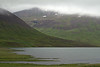 Mouth of the Stifluá (river) flowing into the Stifluvatn (lake) - beyond the northern mouth into the Tungudalur (valley) - Northwestern region of Iceland.