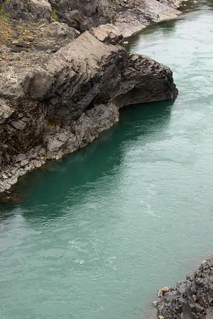 Along the volcanic rock banks of the Jökulsá Brú (river) - Eastern region of Iceland.