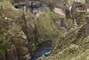 Fjaðrárgljúfur (Feather River Gorge) - with the Fjaðrá (river) below - and the Mögáfoss (falls) along its western wall.