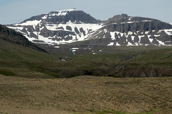 Flatafjall (mountain) - up to the Berutindur (peak), rising to about 2,625 ft. (800 m).