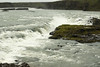 Urridafoss - this high volume cascade falls is sourced by the Þjórsá or Thjorsá (river), which is Iceland's longest river, meandering about 143 mi. (230 km) -  with its water sourced by the discharges of the Vatnajokull, Tungnafellsjokull and Hofsjokull (ice caps).