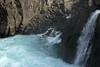 Sunlight and shadows upon a falls along the Fossá (river) - adjacent the Afreittará (river) - here along the Fossárdalur (valley) - Berufjörður (fjord).