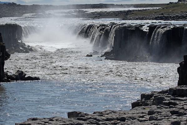 Selfoss - dropping about 33 ft. (10 m) along the Jökulsá á Fjöllum (river) - just upstream going southward from the Dettifoss.