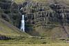 Hrútá (river) Falls - cascading along the igneous rock, at the southwestern area of the Reydarfjörður (fjord).