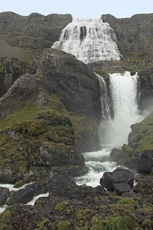 Strompgljúfrafoss (Strompur) - up to the crest of Dynjandi Falls.