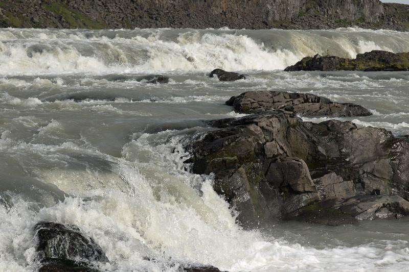 Urridafoss - cascading down the Thjorsá (river) - among the volcanic basalt rock.
