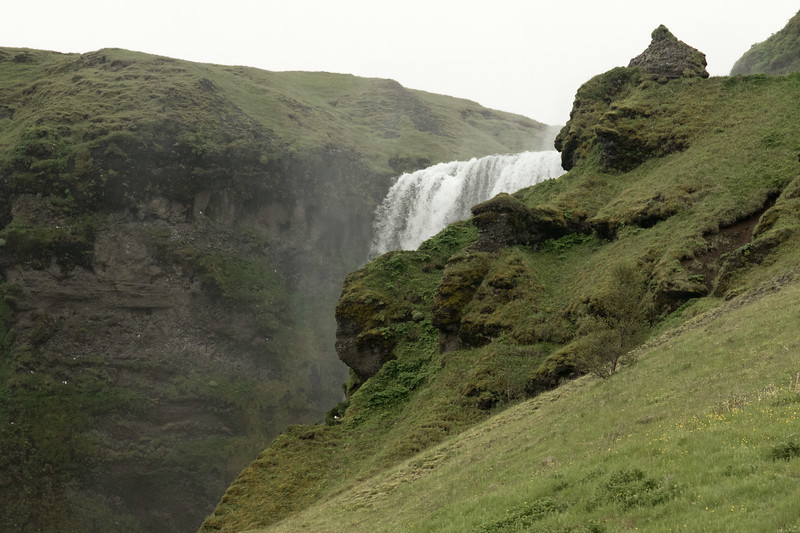 Crest of the Skógafoss - Southern region of Iceland.