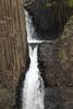 Litlanesfoss or Stuðlabergsfoss (Basalt Column Falls) - along the Hengifossá (river).