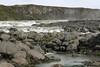 Urridafoss - a casdade falls along the Thjorsá (river), and amongst the volcanic basalt rock - Southern region of Iceland.