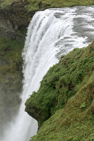 Skogafoss - crest width about 80 ft. (24 m), then a vertical drop of around 200 ft. (60 m).