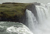 Goðafoss (Waterfall of the Gods) - the southern area of the falls, here along the glacial water of the Skjálfandafljót (river), and the river islands cloaked with moss, lichen, herb,  grass, and heath vegetation.