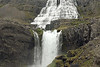 Strompgljúfrafoss (Strompur) falls - up to the crest of the Hæstahjallafoss - then the lower area of the cascading Dynjandi Falls.