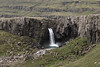 Folaldafoss - plunging about 53 ft. (16 m) along the Berufjarðará (river) - along the Fossárfell (mountain).