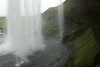 Seljalandsfoss - behind the falls, which plunges vertically about 200 ft. (60 m).