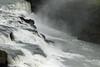 Glacial water mist along the upper crest of the Gullfoss (Golden Falls) - Hvítá (White River) - Vondagljufur (gorge) - Southern region of Iceland.