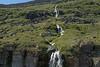Cascade falls along the Seljalækur (stream) - along the SW slopes of the Skotufjörður (fjord) - Westfjords region of Iceland.