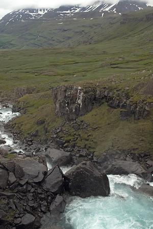Fardagafoss - Fjarðará (Fjord River) - Strandarfjall (mountain).