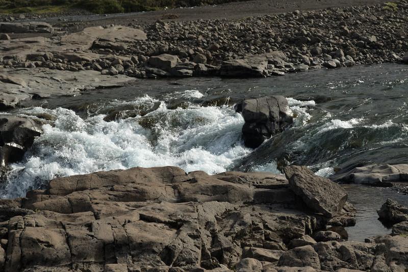 Crest of a falls along the Fossá (river) - just above the Afrettará (river).