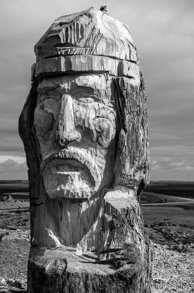 Viking carving, Stokknes Peninsula