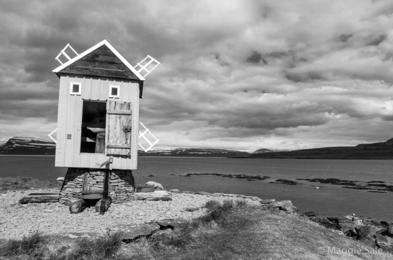 Windmill, Vigur Island, Isafjardardjup Fjord