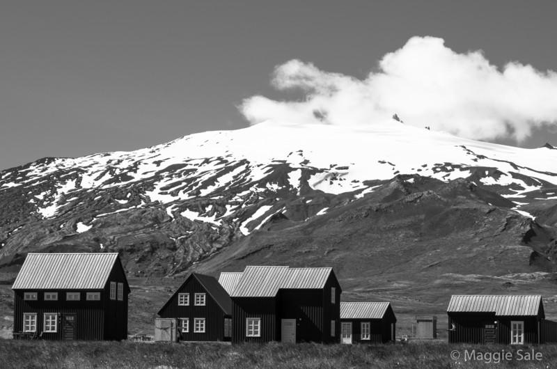 Snaefellsjokull from Hellnar