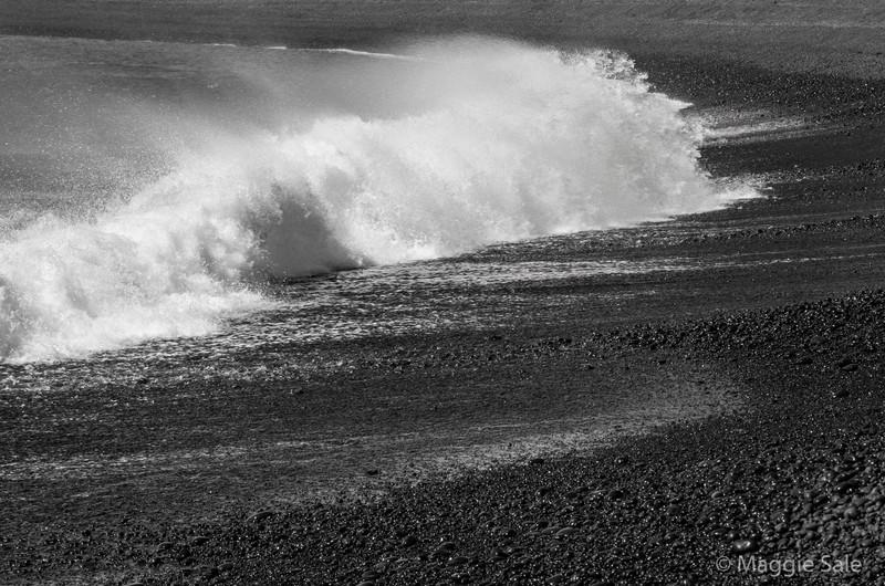 Djupalonssandur black lava beach