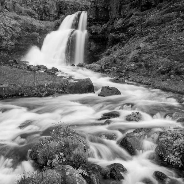 Roadside waterfall, Arnafjordur, NW Fjords