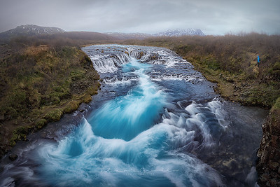 The blue waterfall