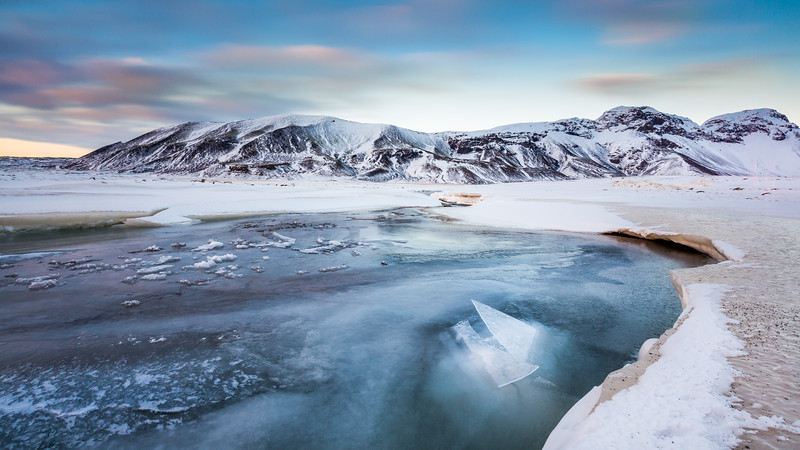 Frozen river / Thingvellir, Iceland
