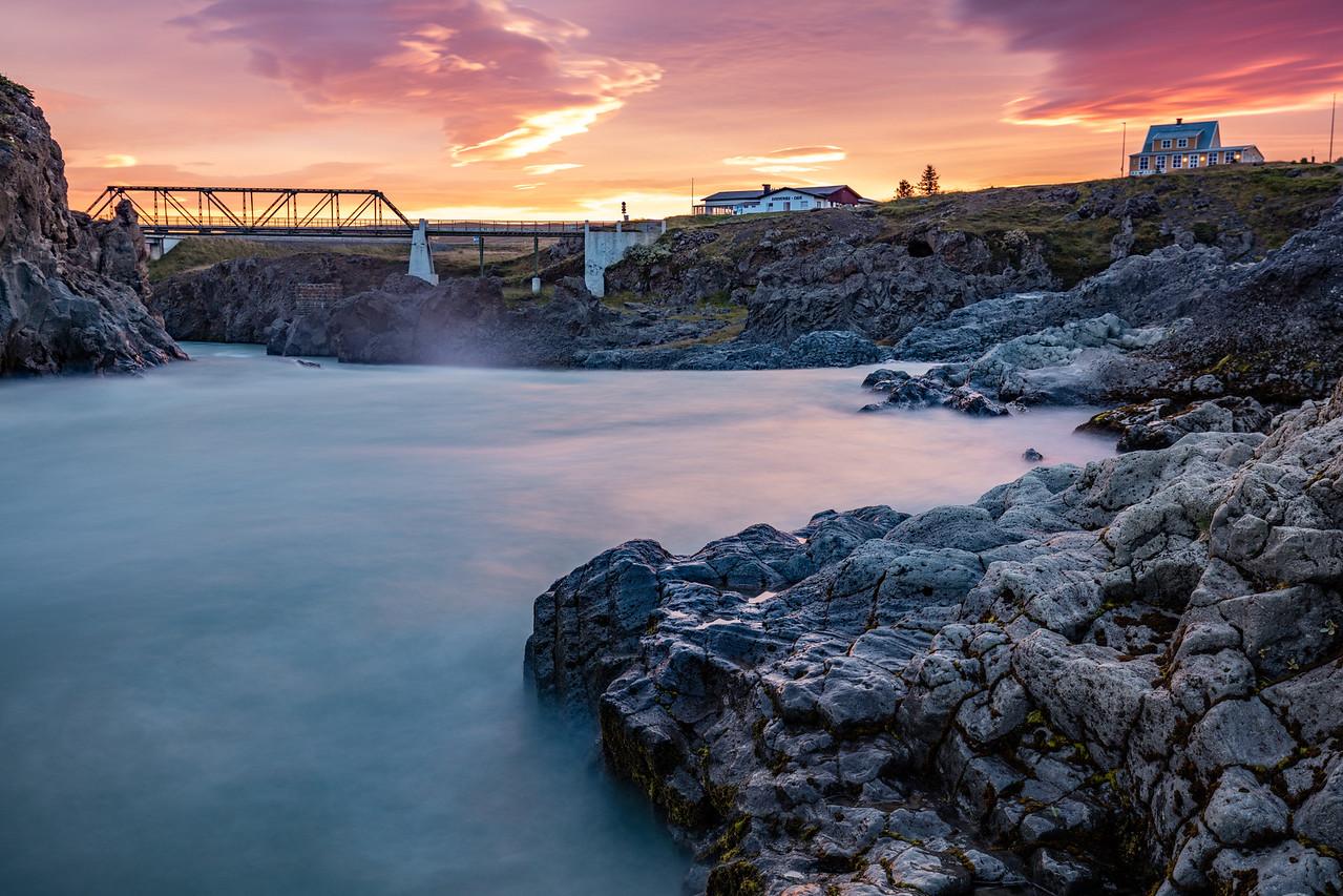 Skjálfandafljót River at Sunrise