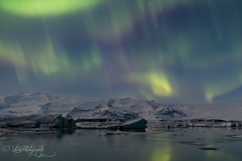 Nothern Lights over Jokusarlon I - Iceland 2016