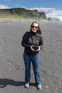 Rachel on the black sand beach | Vik, Iceland