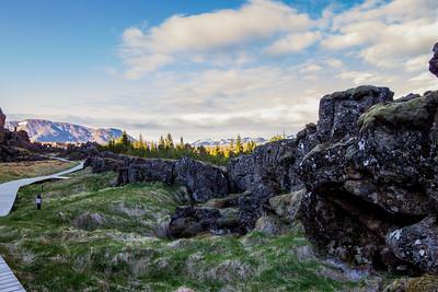 Troll faces at Þingvellir
