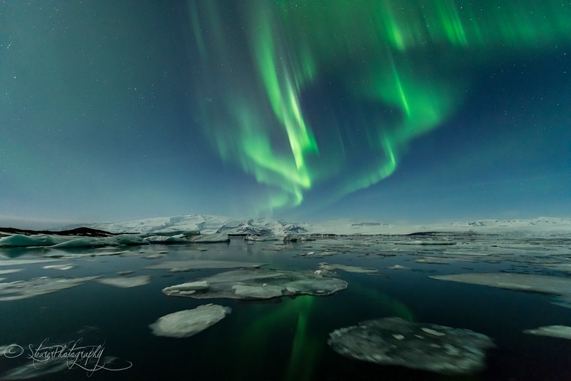 Nothern Lights over Jokusarlon III - Iceland 2016