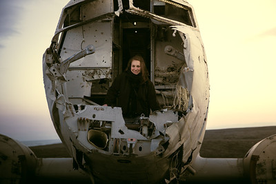 Rachel in the DC-3 | Sólheimasandur, Iceland