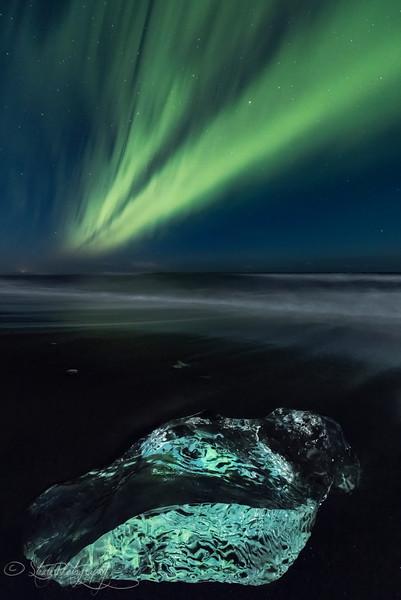 Ice Beach Aurora II - Iceland 2016