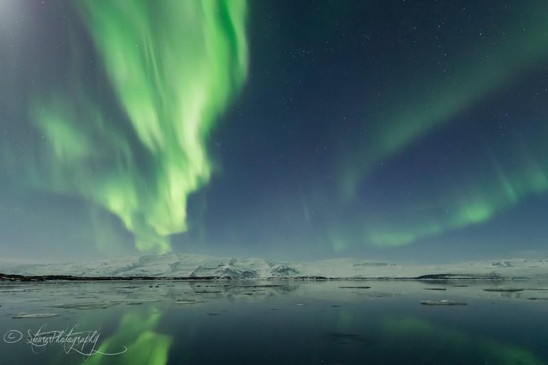Nothern Lights over Jokusarlon V - Iceland 2016