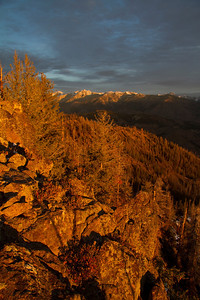 Sunrise from the summit of Griffins Butte.