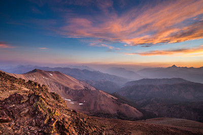 Jerry Peak Wilderness, Boulder White Cloud Mountains - Sunset over the East Fork of the Salmon River.