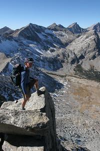 John Kearney appreciates the view into Wildhorse Canyon.