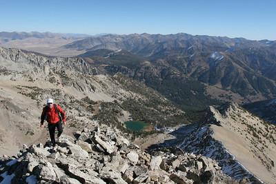 Ridge scrambling near Brocky Peak.