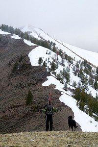 Greg and Croy tak a break to look at the next easy ridge.