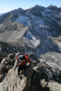 Scrambling over spires and gendarmes is par for the course.