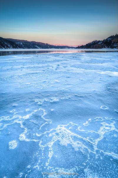 DF.5074 - Ice breakup on Lake Coeur d'Alene, ID.