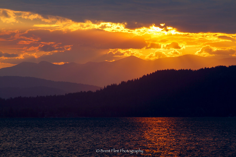 DF.3088 - sunrise over Lake Pend Oreille, Bonner County, ID.