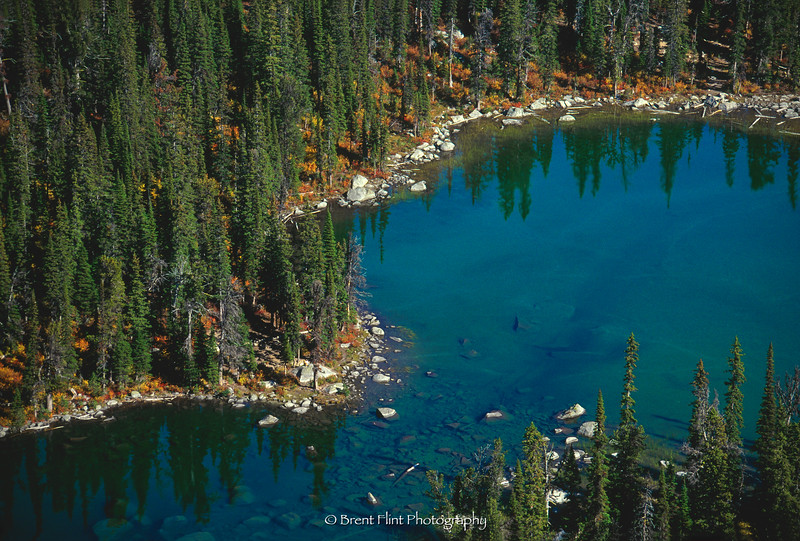 S.4667 - Pyramid Lake from above (from trail to Ball Lakes), Kaniksu National Forest, ID.