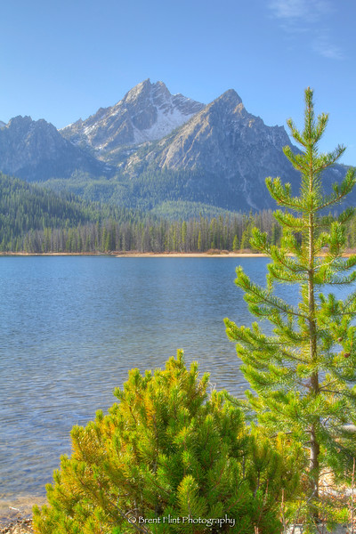 DF.3397 - McGown Peak from Stanley Lake, Sawtooth National Recreation Area, ID.